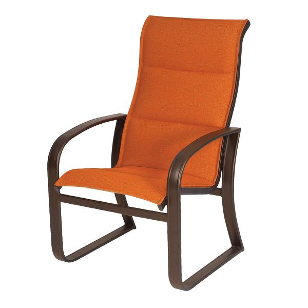 Woodard Cayman Isle padded sling high back dining chair