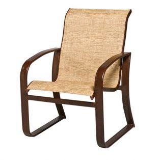 Woodard Cayman Isle sling aluminum patio dining chair