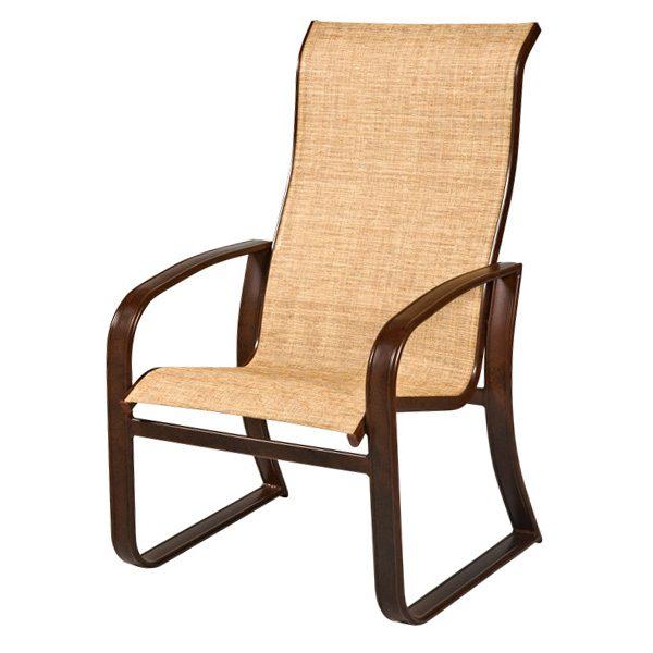 Woodard Cayman Isle Sling Hi Back Dining Chair Today S Patio