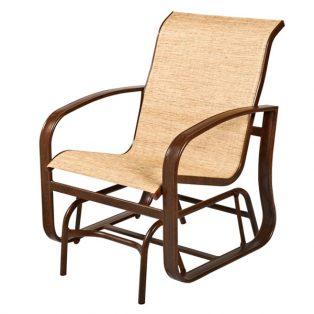 Woodard Cayman Isle sling outdoor single glider patio chair