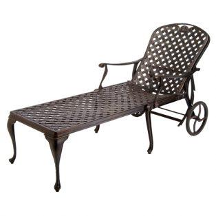Provance cast aluminum chaise lounge