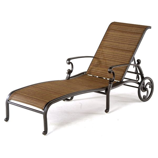 St. Augustine sling chaise lounge with wheels