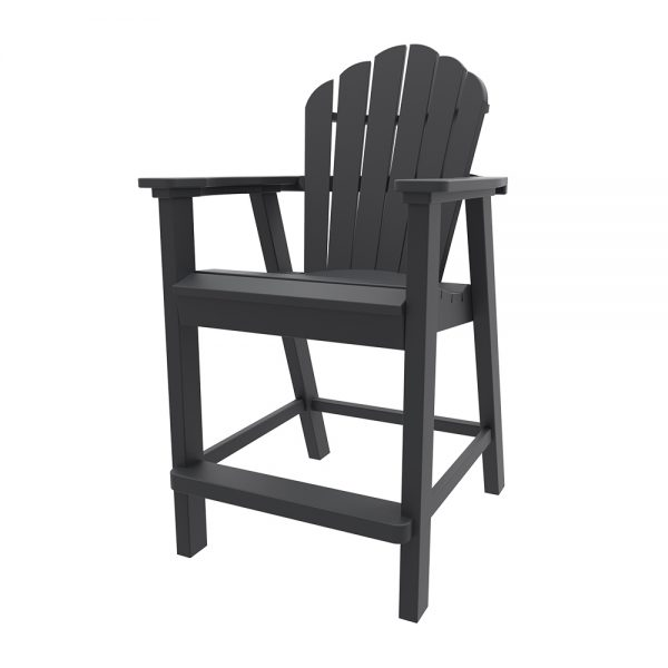 Adirondack classic balcony chair with Charcoal finish