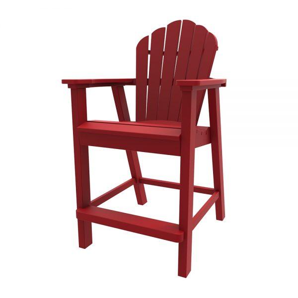 Adirondack classic balcony chair with Cherry finish