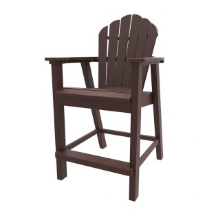 Adirondack classic balcony chair with Chestnut finish