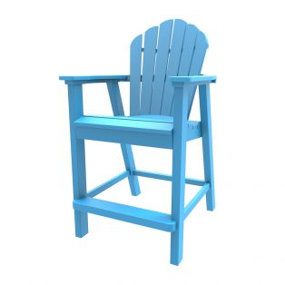 Adirondack classic balcony chair with a Pool finish