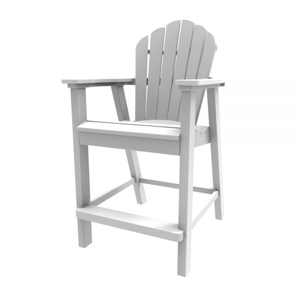 Adirondack classic balcony chair with a White finish