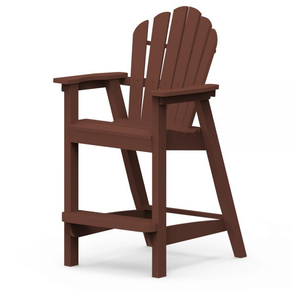 Adirondack classic bar chair with a Chestnut finish