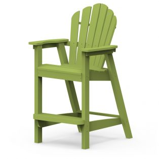 Adirondack classic bar chair with a Leaf finish