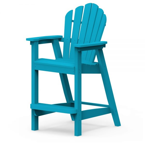 Adirondack classic bar chair with a Pool finish