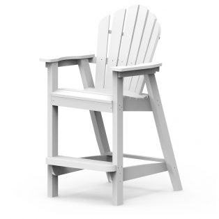 Adirondack classic bar chair with a White finish
