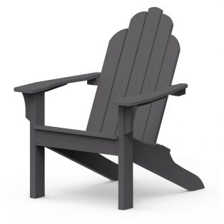 Adirondack classic chair with a Charcoal finish
