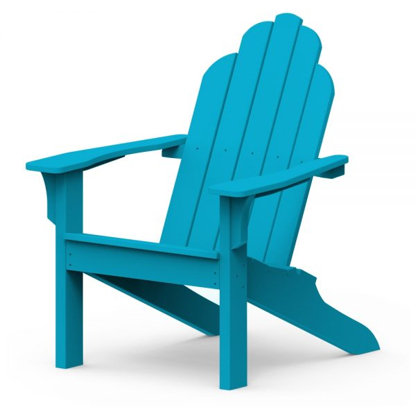 Adirondack classic chair with a Pool finish