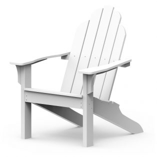 Adirondack classic chair with white finish