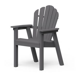 Adirondack classic dining chair with a Charcoal finish