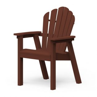 Adirondack classic dining chair with a Chestnut frame finish