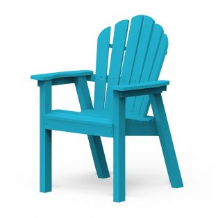 Adirondack classic dining chair with a Pool finish