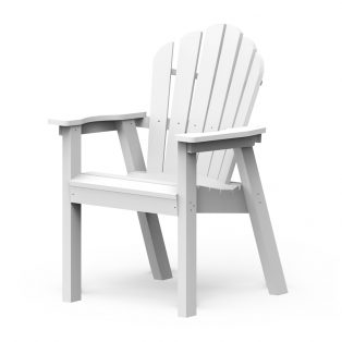 Adirondack classic dining chair with a White finish