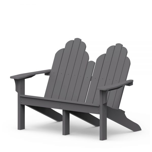 Adirondack classic loveseat with a Charcoal finish