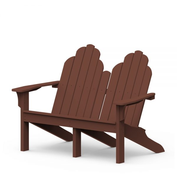 Adirondack classic loveseat with a Chestnut finish
