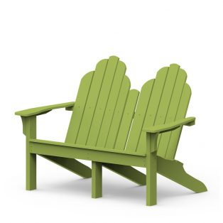 Adirondack classic love seat with a Leaf finish