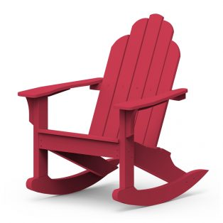 Adirondack classic rocker with a Cherry frame finish