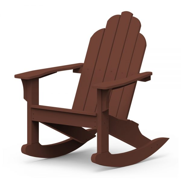 Adirondack classic rocker with a Chestnut frame finish