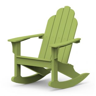 Adirondack classic rocker with a Leaf finish