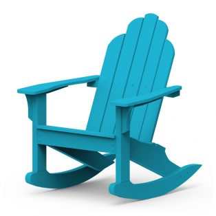 Adirondack classic rocker with a Pool finish