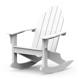 Adirondack classic rocker with a White finish