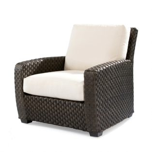 Leeward wicker lounge chair with cushions