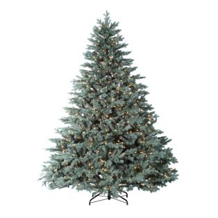 9' Colorado Blue Spruce Artificial Chistmas Tree - Clear Lights