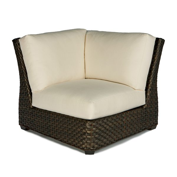 Leeward wicker square corner chair with cushions