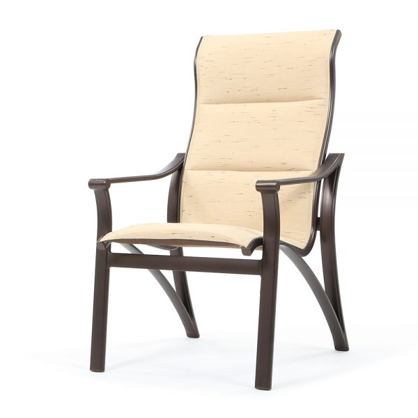 Corsica padded sling high back dining chair