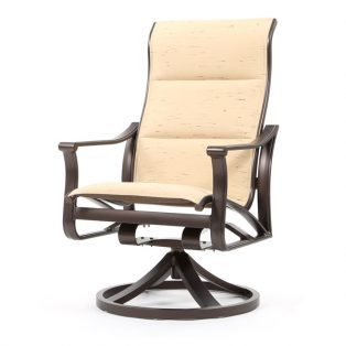 Corisca padded sling high back swivel rocker