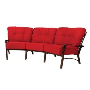 Cortland outdoor curved sofa