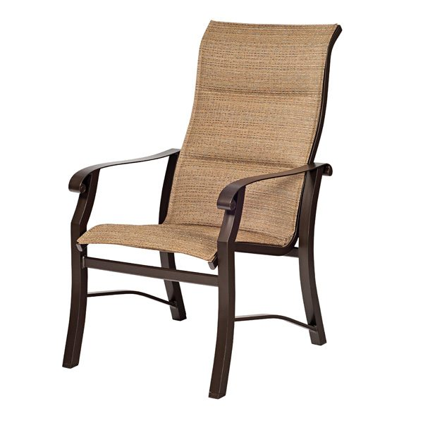 Cortland padded sling high back dining chair