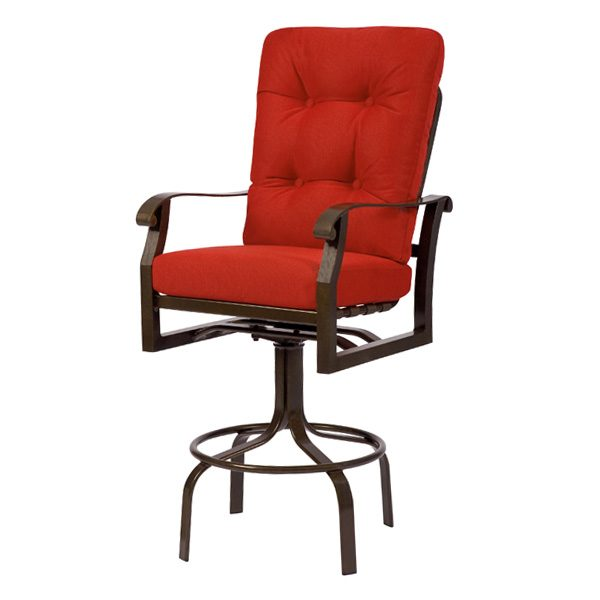 Cortland swivel barstool from Woodard