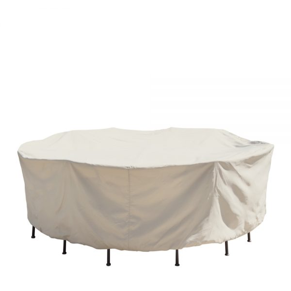 """54"""" round table & chairs cover CP571"""