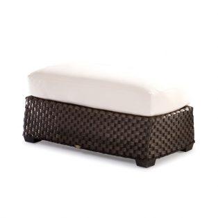 Leeward wicker cuddle ottoman with cushion