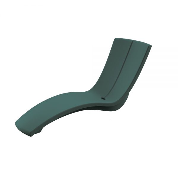 Curve chaise lounge - Bright Forest Green