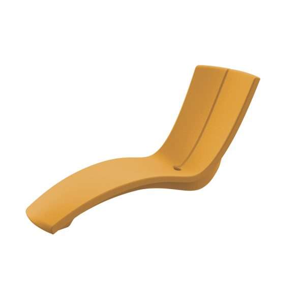 Curve chaise lounge - Bright Yellow