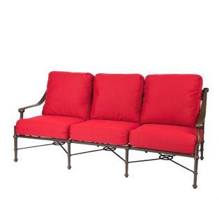 Woodard Delphi aluminum sofa
