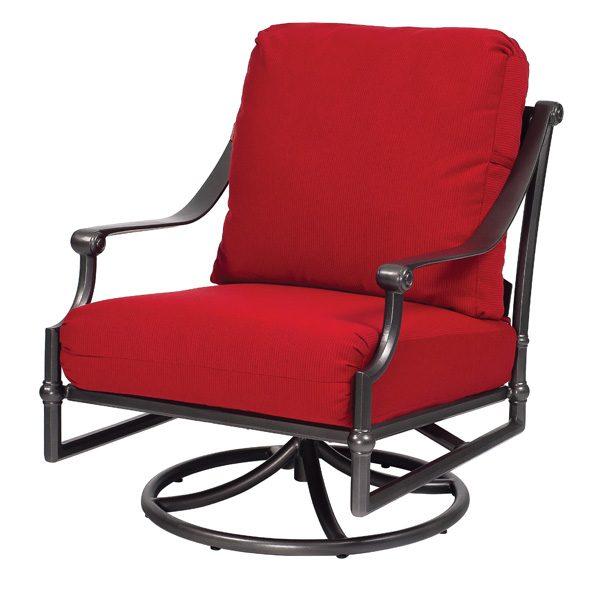 Delphi aluminum swivel rocker lounge chair
