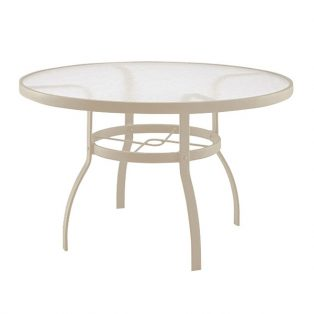 "Deluxe 48"" round dining table with Sandstone finish"