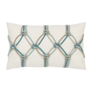 Aqua Rope Elaine Smith outdoor lumbar pillow