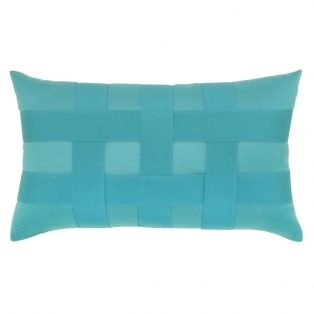 Elaine Smith Basketweave Aruba designer lumbar pillow