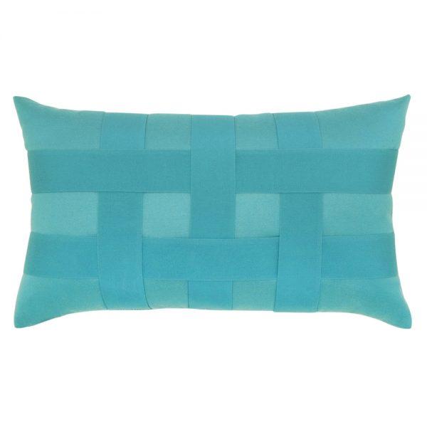 Elaine Smith Basketweave Aruba designer lumbar pillow