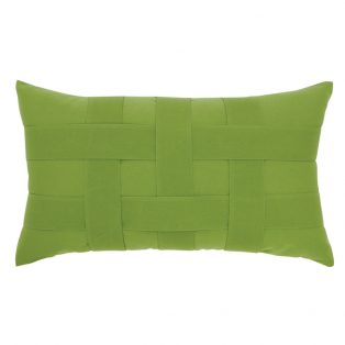 Elaine Smith Basketweave Ginkgo designer lumbar pillow