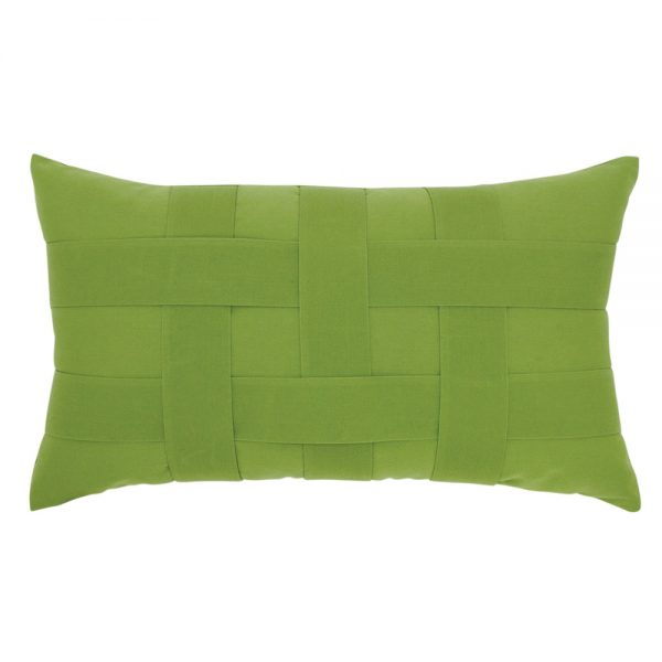 Elaine Smith Basketweave Ginkgo designer lumbar pillow